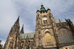 Cattedrale della st Vitus al castello di Praga Fotografie Stock Libere da Diritti