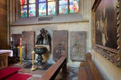 Cattedrale della st Vitus all'interno dell'interiore, Praga Fotografia Stock