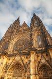 Cattedrale della st Vitus esteriore a Praga Fotografia Stock Libera da Diritti