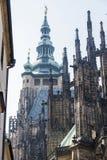 Cattedrale della st Vitus nel castello di Praga a Praga Fotografia Stock