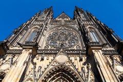 Cattedrale della st Vitus, Praga Fotografie Stock