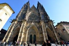 Cattedrale della st Vitus, Praga Fotografia Stock