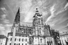Cattedrale della st Vitus a Praga, Repubblica ceca Immagini Stock