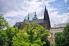 Cattedrale della st Vitus a Praga, Repubblica ceca Fotografia Stock Libera da Diritti