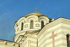 Cattedrale della st Vladimir Fotografia Stock