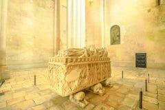 Cattedrale della tomba di Alcobaca immagini stock libere da diritti
