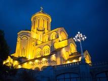 Cattedrale della trinità santa di Tbilisi Immagine Stock
