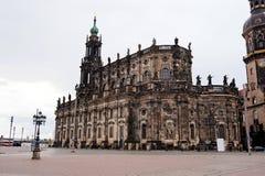 Cattedrale della trinità santa a Dresda Fotografie Stock