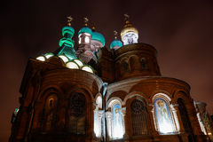 Cattedrale della trinità santa nella città krasnodar Fotografie Stock Libere da Diritti