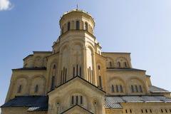 Cattedrale della trinità santa a Tbilisi Immagini Stock Libere da Diritti