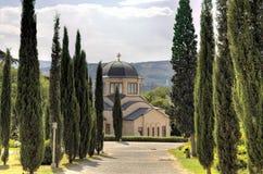 Cattedrale della trinità santa (Tsminda Sameba) Tbilisi, Georgia immagini stock libere da diritti