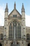 Cattedrale della Winchester osservata dall'ovest Immagini Stock Libere da Diritti