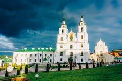 Cattedrale dello Spirito Santo a Minsk - la chiesa ortodossa principale di Fotografie Stock