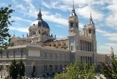 Cattedrale di Almudena - Madrid Fotografia Stock Libera da Diritti
