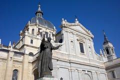 Cattedrale di Almudena a Madrid Fotografie Stock Libere da Diritti