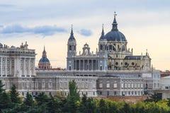 Cattedrale di Almudena, Madrid Fotografia Stock Libera da Diritti