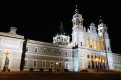 Cattedrale di Almudena a Madrid Fotografia Stock Libera da Diritti