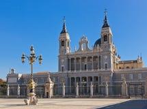 Cattedrale di Almudena a Madrid Spagna Fotografia Stock