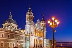 Cattedrale di Almudena a Madrid Spagna Fotografie Stock Libere da Diritti