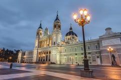 Cattedrale di Almudena a Madrid, Spagna Fotografia Stock Libera da Diritti