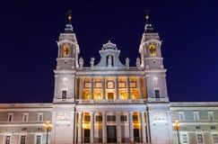 Cattedrale di Almudena a Madrid Spagna Fotografie Stock