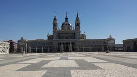 Cattedrale di Almudena a Madrid, Spagna Fotografia Stock