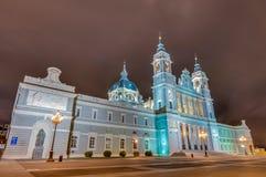 Cattedrale di Almudena a Madrid, Spagna Immagini Stock