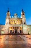Cattedrale di Almudena a Madrid, Spagna Immagini Stock Libere da Diritti