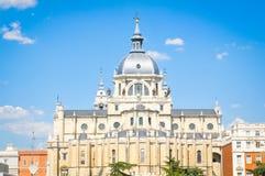 Cattedrale di Almudena a Madrid, Spagna Immagine Stock