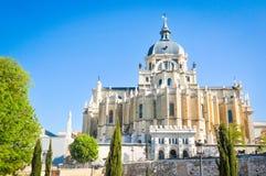 Cattedrale di Almudena a Madrid, Spagna Immagine Stock Libera da Diritti