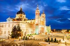 Cattedrale di Almuedena, Madrid, Spagna Fotografia Stock