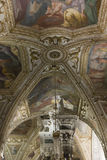 Cattedrale di Amalfi, cripta di St Andrew, dettaglio del soffitto Immagini Stock Libere da Diritti