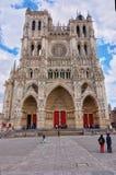 Cattedrale di Amiens di Notre Dame in Somme Hauts de Francia fotografia stock