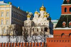 Cattedrale di annuncio di Mosca Kremlin Immagine Stock