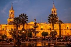 Cattedrale di Arequipa Immagini Stock