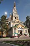 Cattedrale di ascensione a Almaty immagini stock libere da diritti