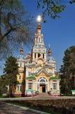 Cattedrale di ascensione a Almaty immagini stock