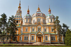 Cattedrale di ascensione a Almaty fotografia stock libera da diritti