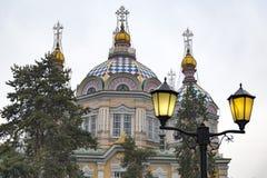 Cattedrale di ascensione, Almaty fotografie stock libere da diritti