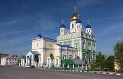 Cattedrale di ascensione nella città di Elec immagini stock libere da diritti