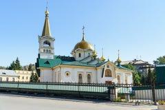 Cattedrale di ascensione a Novosibirsk, Russia fotografia stock libera da diritti