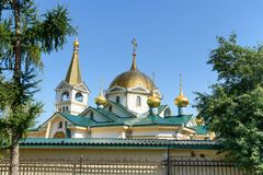 Cattedrale di ascensione a Novosibirsk, Russia immagine stock libera da diritti