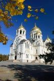 Cattedrale di ascensione ospite Novocerkassk all'autunno La Russia fotografia stock libera da diritti