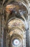 Cattedrale di Asti, interna Fotografia Stock Libera da Diritti
