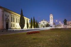 Cattedrale di Aveiro entro le notti nel Portogallo Fotografia Stock