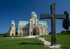 Cattedrale di Bagrati contro il fondo del cielo blu Immagine Stock Libera da Diritti