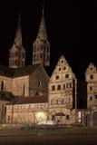 Cattedrale di Bamberga di notte Immagine Stock