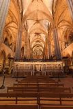 Cattedrale di Barcellona durante la massa Immagini Stock Libere da Diritti