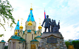 Cattedrale di Blagoveschensk, regione dell'Amur Fotografia Stock