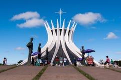 Cattedrale di Brasilia Fotografie Stock